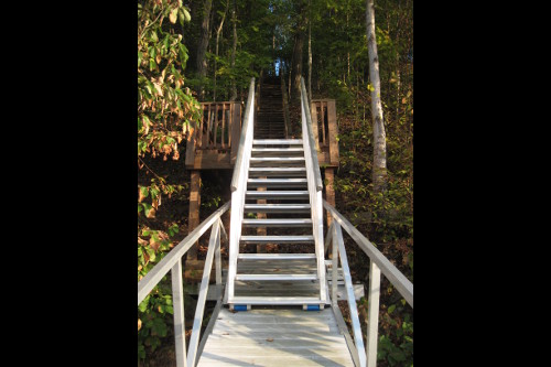 hands free adjustment of aluminum stairs