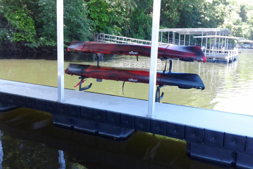 mount the kayak rack on your dock and have your kayak always ready