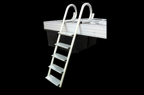 Aluminum Dock mounted step ladder accessory