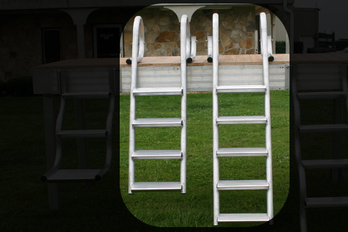 four and five step aluminum dock ladders