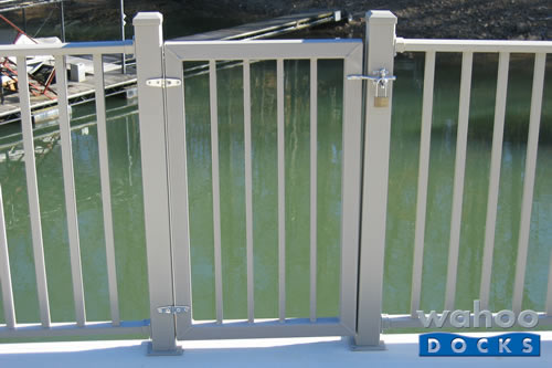 optional lock can secure your upper deck gate